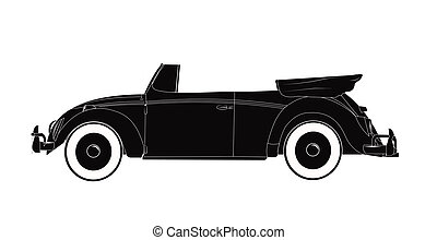 convertible car from fifties