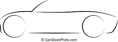 Convertible car icon vector illustration isolated
