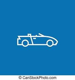 Convertible car line icon. - Convertible car thick line icon...