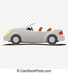 convertible, -, caricatura, ilustración