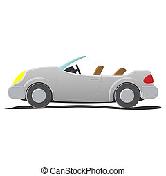 Convertible - cartoon illustration