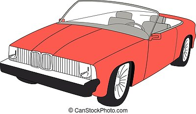convertible red vector illustration isolated
