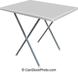 convertible table - vector convertible plastic table on...