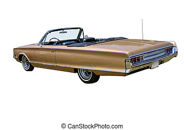 Convertible - This is a picture of a 1960s convertible car ...
