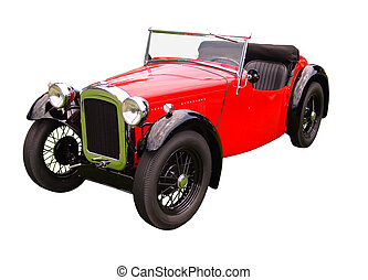 Convertible Touring - This is a red and black 1920s ...