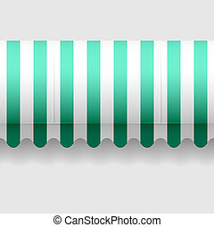 Seamless vector illustration of a convex awning