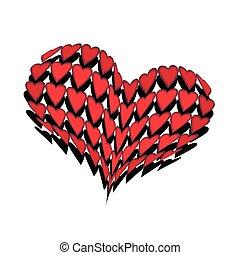 convex huge heart