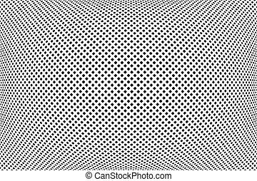 Convex pattern. Abstract checked dots texture. Vector art.