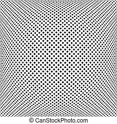Convex square dots pattern. - Convex pattern. Abstract...