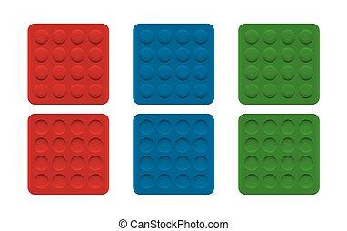 convexe, ombre, illusion, modèle, cercles, concave, optique