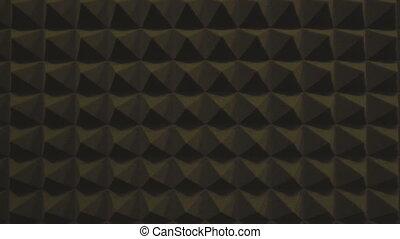 convexe, soundproofing, mousse, caoutchouc, texture, triangles