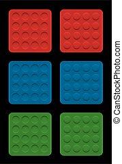 convexo, ilusión, círculos, cóncavo, óptico, placas