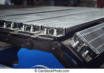 convey-er belt. industry track. conveyor belt. industrial ...