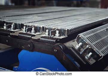convey-er belt. industry track. conveyor belt. industrial ...