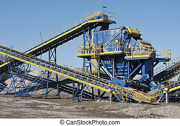 Conveyor belt in the quarry