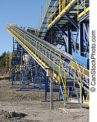 Conveyor belt in the quarry