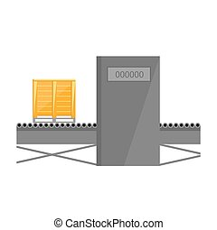 Conveyor belt isolated on white background vector...