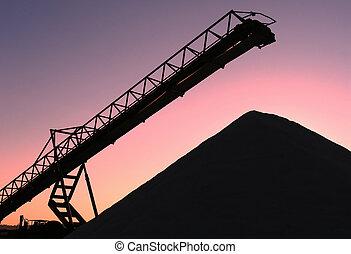 Conveyor belt - Metaphorical picture - conveyor belt in...