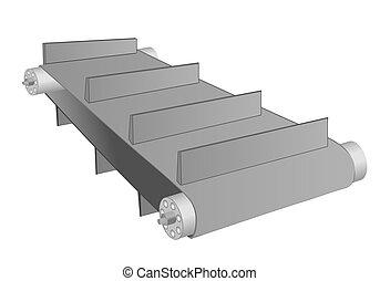 conveyor belt on white - conveyor belt isolated on a white...