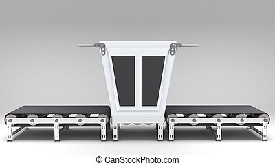 conveyor belt with transformer for use in presentations,...
