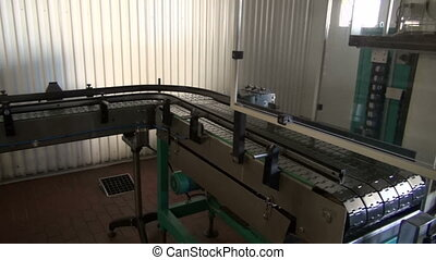 conveyor construction in brewery