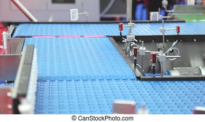 Conveyor - Shipping Box at Conveyor Belt in Distribution...