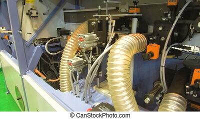 Conveyor furniture manufacture. Drilling machines
