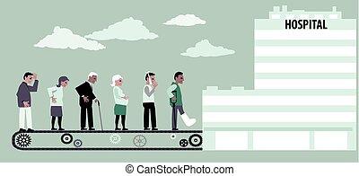 conveyor hospital