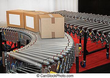 Conveyor rollers transport - Powered conveyor rollers for...