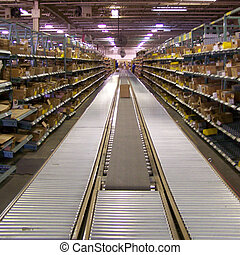 Conveyor System - Distribtuion order processing conveyor.
