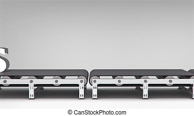 conveyor with word animation for use in presentations, manuals, design, etc.