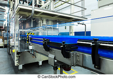conveyor working at a modern plant