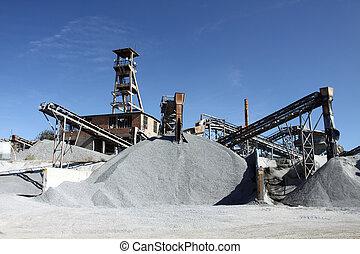 quarry  - Conveyors in a stone  quarry