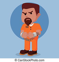 Convict in chain illustration