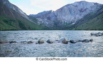 Convict Lake in the Eastern Sierra Nevada mountains, ...