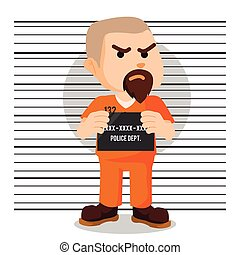 convict mugshot illustration design