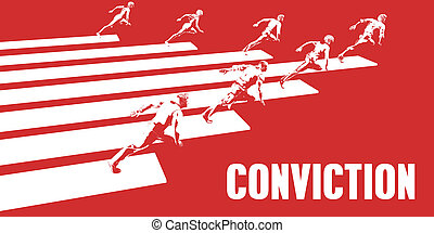 Conviction with Business People Running in a Path