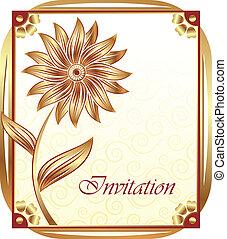 convite, cartão, desenho