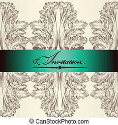 convite, casório, cartão, elegante