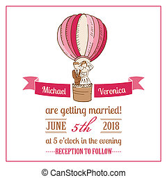 convite casamento, cartão, -, para, desenho, scrapbook, -, em, vetorial