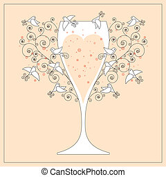 convite casamento, desenho