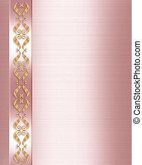 convite casamento, elegante, cor-de-rosa