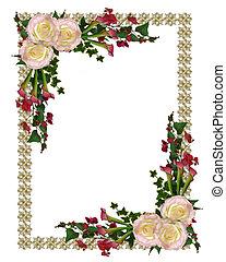 convite casamento, elegante, floral