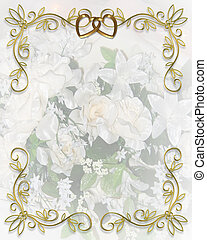 convite casamento, floral