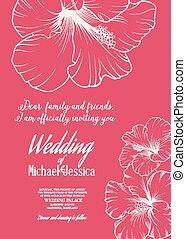 convite casamento, modelo