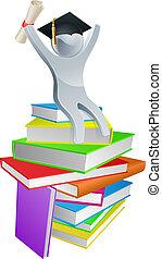 convocación, hombre, en, libros