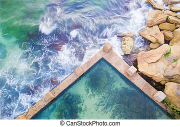 Coogee Ocean Rock Pool top down view