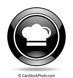 cook black glossy icon