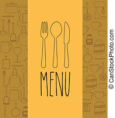 Cook book design over yellow background ,vector illustration