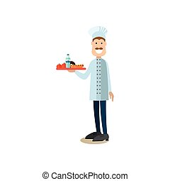 Cook concept vector illustration in flat style